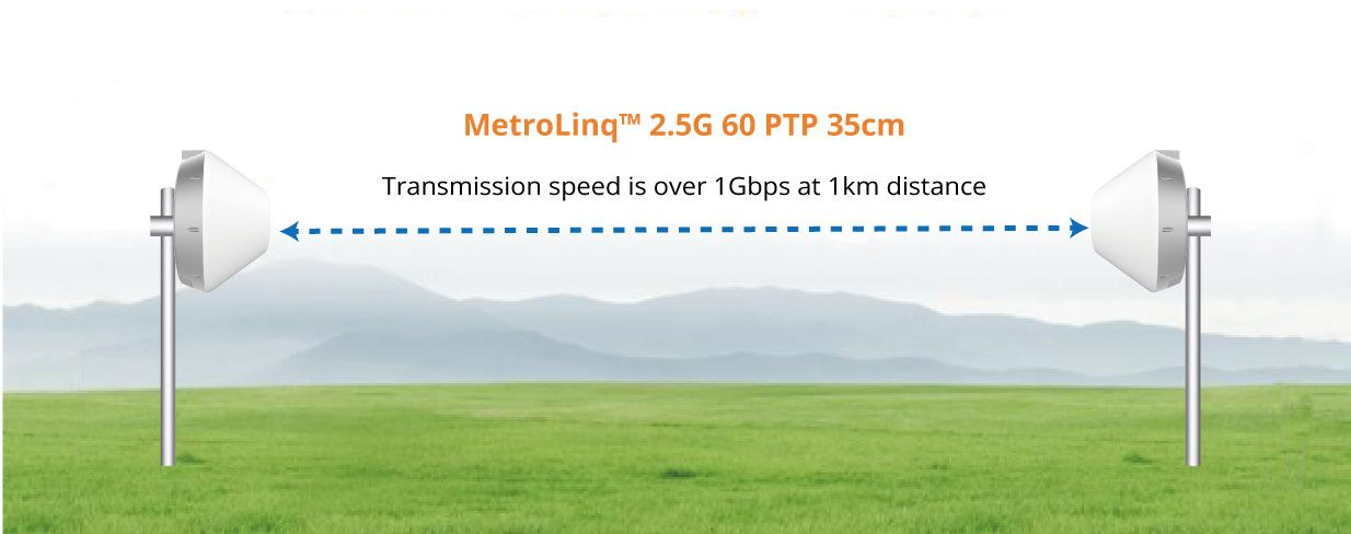 MetroLinq PtMP 10G Omni point to poin 2.5G multipoint